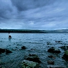 marusarel: a shot of the banks of Loch Ness all blue-toned and under clouds (Otherworlds: AU Scotland)