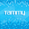 swingandswirl: text 'tammy' in white on a blue background.  (going to hell)
