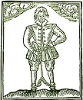 kinky_shakespeare: A woodcut of Thomas Nashe in chains (Kinky Nashe)