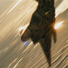 swordage: F-22 Starscream in flight. (tf Starscream in flight)