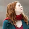 pearwaldorf: amy pond likes the snow. and scarves. (dw - amy snow)