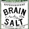 """rydra_wong: old-fashioned medicine label, reading """"EFFERVESCENT BRAIN SALT"""" (meds -- brain salt)"""