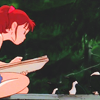 ext_183: girl sitting on a rooftop sketching birds (birds)