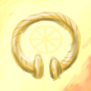gryphesgallia: A golden torc on a luminous yellow background. (torc)