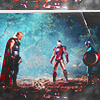 juniperphoenix: Thor, Iron Man, and Captain America (Avengers)