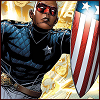 cmshaw: Marvel: Patriot runs into the frame, shield in hand (Patriot)