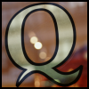 queerspoons: A painted Q on a glass window (Q Window)
