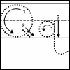 queerspoons: Tracing paper uppercase Q and lowercase q (Q Learning)