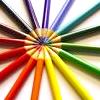leela_cat: circle of rainbow coloured pencils (Rainbow)