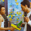 "katiemariie: Screencap of Troy and Abed from Community doing their special handshake in ""For a Few Paintballs More."" (Trobed)"