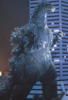 halialkers: Heisei Godzilla, left profile view, by building (Set-8)