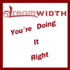 "jumpuphigh: DW Logo with text  ""You're Doing It Right"" (DWRight)"