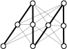 memewidth: Black and white interconnecte circles. (black and white)
