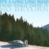 "darkemeralds: Sam & Dean leaning on the Impala on a lonely highway, text ""It's a long long road from which there is no return"" (long long road, supernatural)"