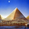 sharpest_asp: painting of the great pyramid and the Dog Star (General: Pyramid)