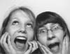 bodger: girls in photo booth (photobooth girls)