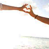 angelikitten: Two women making a heart shape with their hands (Love - Satellite of love)