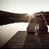 angelikitten: Two women sat on a pier (Love - Watching the tide roll away)