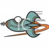 elektra: (rocketship vintage)