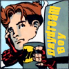 "cmshaw: DC Comics: Impulse with a batmug, captioned ""Daydream Boy"" (Sweet dreams are made of this)"