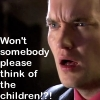 "ext_3690: Ianto Jones says, ""Won't somebody please think of the children?!?"" (towel)"