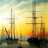 aigha: (Friedrich - View of a Harbour)