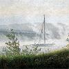 aigha: (Friedrich - Ship on Elbe in Mist)