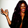 "timeasmymeasure: azealia banks with a hand making the ""okay"" sign and smiling (az: a-okay)"