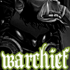 tehkittykat: picture of thrall with warchief in text (wow; thrall is my warchief)