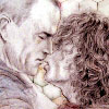 mab_browne: Pencil art by Helvetica of Jim and Blair just about to kiss.   From my story 'A Tale of Fortuna'. (Fortuna J/B)
