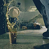 giddygeek: spn sam's coffee falling  (ouch)