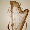 dorianisms: A drawing of a harp, with some curlicue details. (Default)