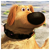 "jesse_the_k: The dog named Dug from ""Up"" looks worried (worry)"
