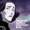 anghraine: lin bei fong; text: whatever happens don't turn back (lin [don't turn back])