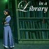 winkingstar: Katara (Avatar TLA) holding books in a library with shelves behind her. ([Avatar] in a Library)