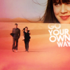 shopfront: Source: Doctor Who. Ten and Lady Christina walking in the desert, merged with Christina smiling. Text: GO YOUR OWN WAY. (DW - [Ten/Christina] good with or withou)