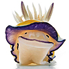 dorinda: A nudibranch (a type of sea slug) with markings that make it look like it is smiling and wearing a hat. (nudibranch)