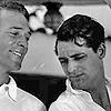 dorinda: Randolph Scott smiles at Cary Grant. (Randolph_Cary)
