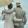 "dorinda: In ""Brideshead Revisited"" (1981), Sebastian and Charles, arms around each other, look out to sea. (Brideshead_sea)"