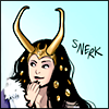 argurotoxos: fanart of Lady Loki amused (Lady Loki - snerk | by etrangere)