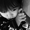 thefourthvine: A picture of my kid in black and white. (Earthling black and white)