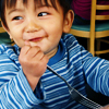 thefourthvine: A picture of my kid with a fork, smiling. (Earthling fork)