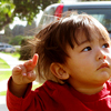 thefourthvine: A picture of my kid pointing.  (Earthling points)
