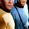 thefourthvine: Original Series Kirk and Spock.  (ST TOS blue and gold)