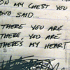 heuradys: There you are, there you are, there's my heart and some scribbling (there's my heart)