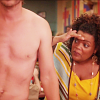 neigedens: shirley examining tiny nipples (abed is listening)