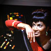 thefourthvine: Uhura, comfortable at her station.  (ST TOS relaxed Uhura)