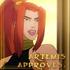 bluefall: Temi smiling in approval (Artemis approves)