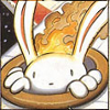 stealth_noodle: Max from Sam & Max, with his head on fire. (head on fire)
