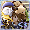 stealth_noodle: Sora, Donald, and Goofy sharing a big Kingdom Hearts hug. (kingdom hugs)